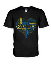 SWEDISH MAP V-Neck T-Shirt thumbnail