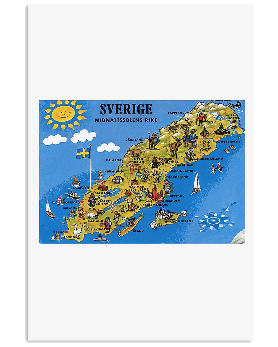 SWEDISH MAP 11x17 Poster