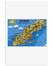 SWEDISH MAP 11x17 Poster front