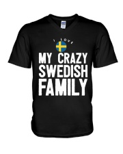 SWEDISH FAMILY V-Neck T-Shirt tile