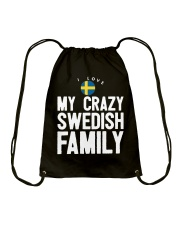 SWEDISH FAMILY Drawstring Bag tile