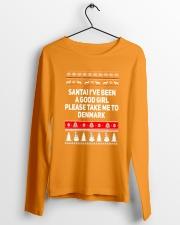 SANTA TAKE GIRL TO DENMARK  Long Sleeve Tee lifestyle-unisex-longsleeve-front-3