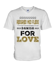 DANISH RODGROD MED FLODE V-Neck T-Shirt tile