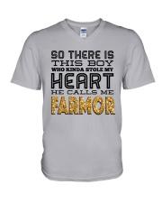 SWEDEN BOY FARMOR V-Neck T-Shirt thumbnail