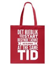 DENMARK TWO LANGUAGE  Tote Bag thumbnail