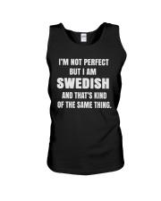 SWEDISH NOT PERFECT Unisex Tank thumbnail