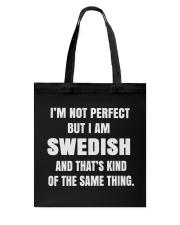 SWEDISH NOT PERFECT Tote Bag thumbnail