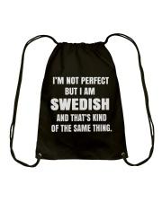 SWEDISH NOT PERFECT Drawstring Bag thumbnail