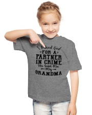 GRANDMA PARTNER IN CRIME EXCLUSIVE DESIGN Youth T-Shirt lifestyle-youth-tshirt-front-2
