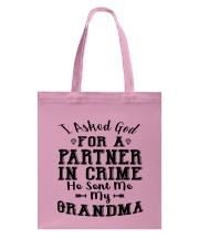 GRANDMA PARTNER IN CRIME EXCLUSIVE DESIGN Tote Bag thumbnail
