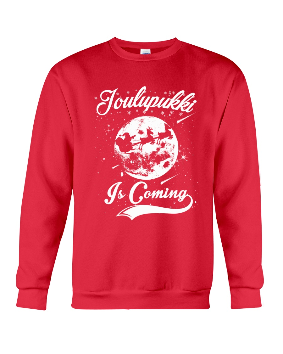 FINNISH - JOULUPUKKI IS COMING Crewneck Sweatshirt