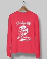 FINNISH - JOULUPUKKI IS COMING Crewneck Sweatshirt lifestyle-unisex-sweatshirt-front-10