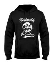 FINNISH - JOULUPUKKI IS COMING Hooded Sweatshirt thumbnail