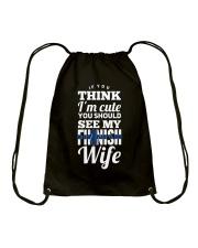 FINNISH WIFE Drawstring Bag thumbnail