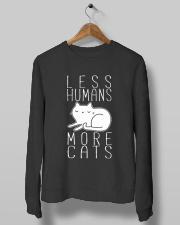 LESS HUMANS MORE CATS Crewneck Sweatshirt lifestyle-unisex-sweatshirt-front-10