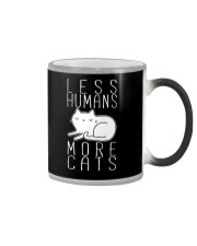 LESS HUMANS MORE CATS Color Changing Mug thumbnail