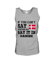 DANISH SAY IT IN Unisex Tank thumbnail