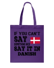 DANISH SAY IT IN Tote Bag thumbnail