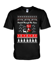 DANISH CHRISTMAS SWEATSHIRT T-SHIRT MUG V-Neck T-Shirt thumbnail