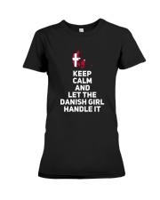 KEEP CALM DANISH GIRL Premium Fit Ladies Tee thumbnail