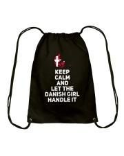 KEEP CALM DANISH GIRL Drawstring Bag thumbnail