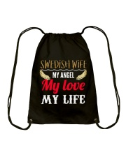 SWEDISH WIFE Drawstring Bag thumbnail