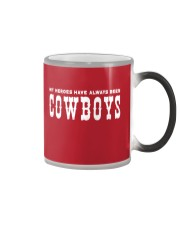 my heroes is COWBOY Color Changing Mug tile