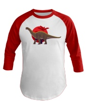 Dinosaur  Baseball Tee front