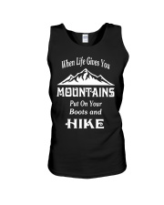when life gives you mountains hike  Unisex Tank thumbnail