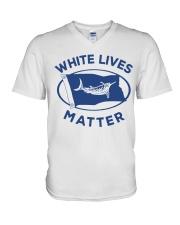 White-Lives-Matter V-Neck T-Shirt thumbnail