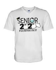 Senior 2020 Quarantined V-Neck T-Shirt thumbnail