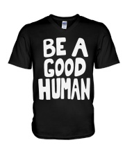 nomad-be-a-good-human V-Neck T-Shirt thumbnail