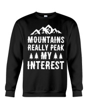 MOUNTAIN REALLY PEAK MY INTEREST Crewneck Sweatshirt thumbnail