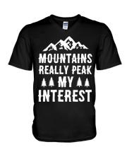 MOUNTAIN REALLY PEAK MY INTEREST V-Neck T-Shirt thumbnail