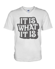 it-is-what-it-is V-Neck T-Shirt thumbnail