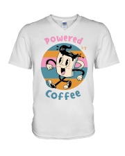 POWERED-BY-COFFEE V-Neck T-Shirt thumbnail