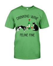 Drinking wine feline fine Premium Fit Mens Tee thumbnail
