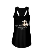 Always pray and never give up Ladies Flowy Tank thumbnail