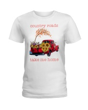 Country roads take me home Ladies T-Shirt tile