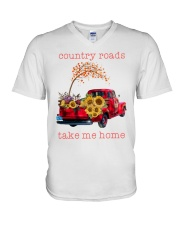 Country roads take me home V-Neck T-Shirt thumbnail