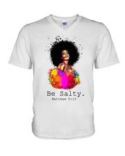 Be salty V-Neck T-Shirt thumbnail