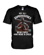 Not all superheroes wear capes mine wore a cross V-Neck T-Shirt thumbnail