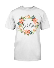 God is greater than the highs and lows Premium Fit Mens Tee tile