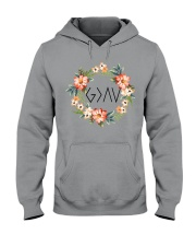 God is greater than the highs and lows Hooded Sweatshirt tile