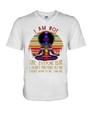 I am not like everyone V-Neck T-Shirt thumbnail