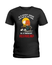 Be a fabulous redhead Ladies T-Shirt front