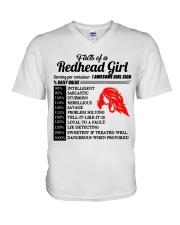 Readhead girl V-Neck T-Shirt thumbnail