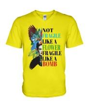Not fragile like a flower fragile V-Neck T-Shirt thumbnail