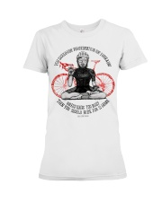 You should ride for meditation for 1 hour day Premium Fit Ladies Tee thumbnail
