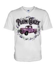 Plum crazy V-Neck T-Shirt thumbnail